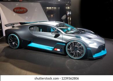 Paris, Ile de France / France - October 07 2018 : Mondial Paris Motor Show Bugatti Divo