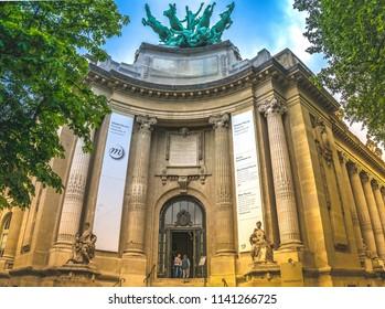 Paris, Ile de France / France - September 3 2012 - Entrance to the Mini Palais Restaurant which is part of the Grand Palais in Paris