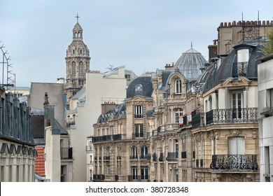 PARIS - JAN 23: view of Paris city center on January 23, 2015 in Paris, France. In year 2014 more than 15 million tourists visited the city of Paris.