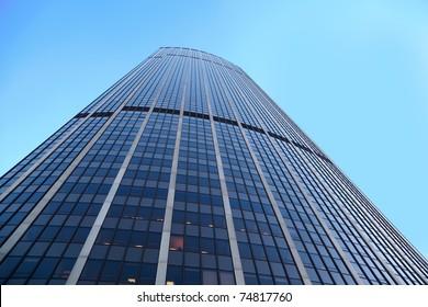 PARIS - JANUARY 4: Tour Montparnasse on January 4, 2010 in Paris, France. Tour Montparnasse - skyscraper located in 15 th arrondissement of Paris. Story skyscraper is 57 floors, height - 210 m