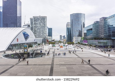 PARIS - JULY 14: La Defense - business district on July 14, 2012 in Paris. La Defense is the biggest business district in France and most of companies have an office in this area.