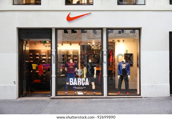 retail prices best wholesaler best service Paris July 20 Nike Store On | Royalty-Free Stock Image