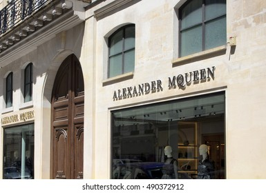 PARIS - JULY, 2016: Luxury shopping street in Paris. Famous fashion brands' shop is in the view on July 9, 2016.