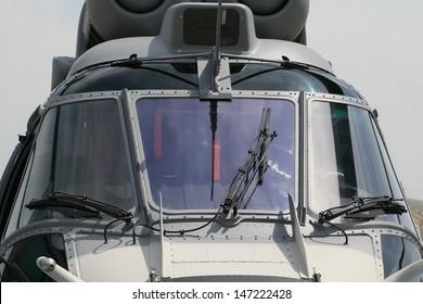 PARIS - JUN 17: Tactical transport helicopter Europopter EC725 Caracal shown at 50th Paris Air Show on June 17, 2013, Paris, France.
