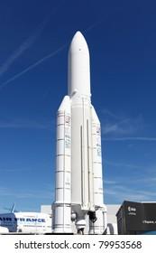 PARIS - JUN 26: EADS Ariane 5 space rocket on 49th Paris Air Show on June 26, 2011 in Paris, France.