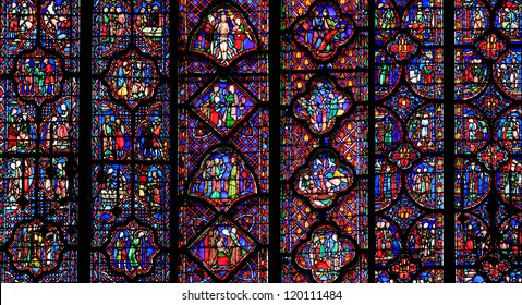 PARIS - JUNE 05: The Sainte-Chapelle one of the most visited landmark in Paris, June 05, 2012. This 1246 inspired monument features 15 wonderful stain-glass windows in Paris.