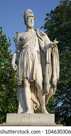 PARIS, JUNE - 18: Old Athens democratic emperor Pericles statue from Tuileries garden. June 18, 2011 in Paris, France.