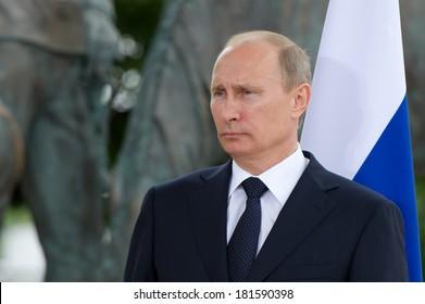 Paris - June 21 : Vladimir Putin during a work visit at Matignon, june 21, 2011 in Paris, France