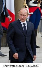 Paris - June 21 : Vladimir Putin during a work visit at l'Elys�©e, june 21, 2011 in Paris, France