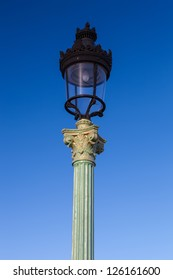 Paris lamp in the square of concorde, France