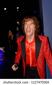 PARIS - MAR 30, 2018: Mick Jagger, an English singer-songwriter, musician,  the Wax Museum Grevin in Paris, France