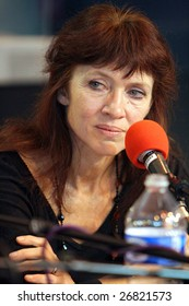 PARIS - MARCH 15: French/Canadian award-winning writer Nancy Huston takes part in the round table debate at the Paris Book Fair - Salon du Livre 2009 on March 15, 2009 in Paris, France
