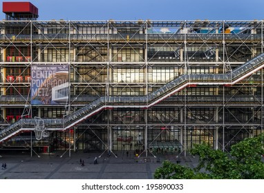 PARIS - MAY 2014: Centre Georges Pompidou on May 23rd 2014 in Paris, France..