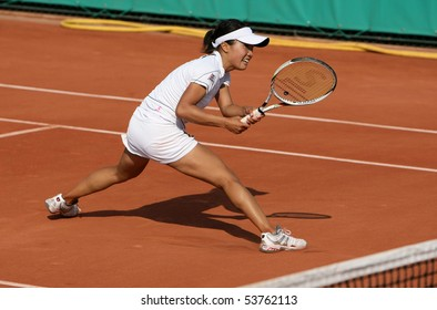 PARIS - MAY 21: Kurumi NARA of Japan plays the 3rd round qualification match at French Open, Roland Garros on May 21, 2010 in Paris, France.