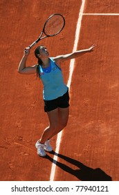 PARIS - MAY 23: Marion Bartoli of France plays the 1st round match at French Open, Roland Garros on May 23, 2011 in Paris, France.
