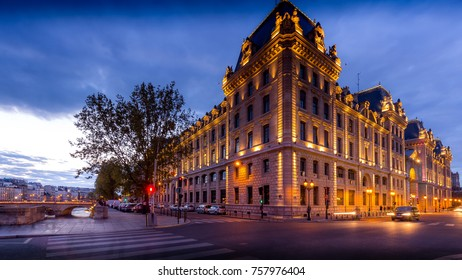 PARIS - MAY 29, 2016: Hotel de Ville (City Hall) in Paris during the springtime.