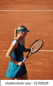 PARIS - MAY 29: Maria Sharapova of Russia during the match at French Open, Roland Garros on may 29, 2009 in Paris, France.