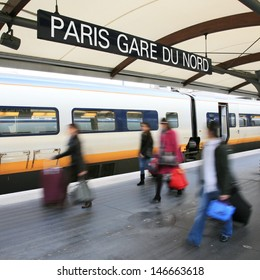 Paris North Station, Gare du Nord, France. Serve about 190 million per year, the busiest railway station in Europe.