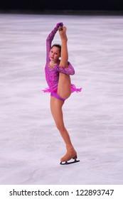 PARIS - NOVEMBER 17: Julia LIPNITSKAYA of Russia performs at ladies free skating event at Eric Bompard Trophy on November 17, 2012 at Palais-Omnisports de Bercy, Paris, France.