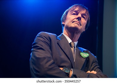 PARIS - NOVEMBER 28: France's special envoy for the protection of the planet Nicolas Hulot at a ceremony during the COP21 climate summit in Paris, France, November 28, 2015.