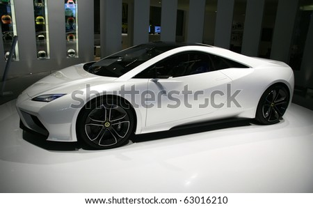 5859b3e8eaad PARIS - OCTOBER 14  Lotus Esprit Concept at the Paris Motor Show 2010 at  Porte