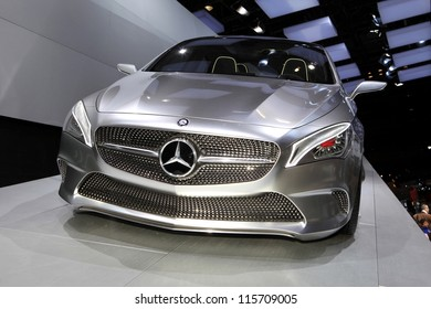PARIS - OCTOBER 14: The Mercedes Concept Style Coupe displayed at the 2012 Paris Motor Show on October 14, 2012 in Paris