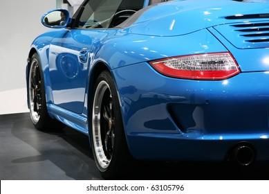PARIS - OCTOBER 14: Porsche 911 Speedster rare and side view at the Paris Motor Show 2010 at Porte de Versailles, on October 14, 2010 in Paris, France