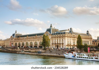 PARIS - OCTOBER 9: D'Orsay museum on October 9, 2014 in Paris, France. The Musee d'Orsay is the French art  museum in Paris, on the left bank of the Seine.
