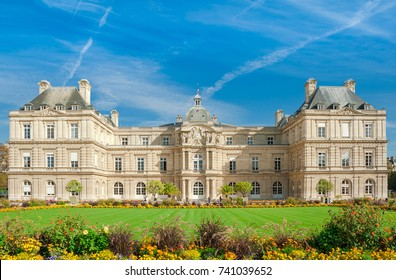 Paris, Palace in Luxembourg Garden, France