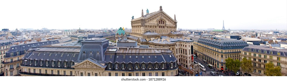Paris, panorama with a view of the Opera garnier - Shutterstock ID 1871288926