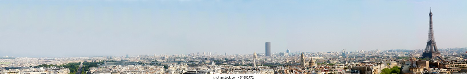 Paris, panoramic view of the city