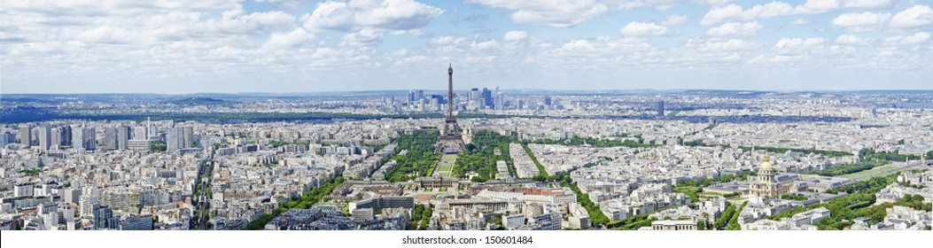 Paris panoramic view with Eiffel tower