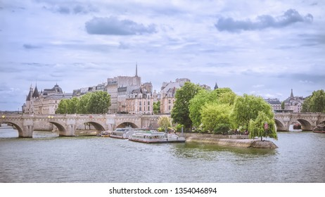 Paris. The Pont Neuf and Cite island. View from the Pont des Arts.