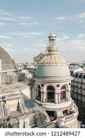 Paris rooftops view of Printemps