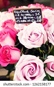Paris roses in the flower shops
