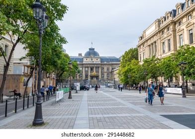 PARIS - SEPT 17, 2014: Palace of Justice (The Palais de Justice) is located in central Paris. Former prison, now a museum, where Marie Antoinette was imprisoned before being executed on the guillotine