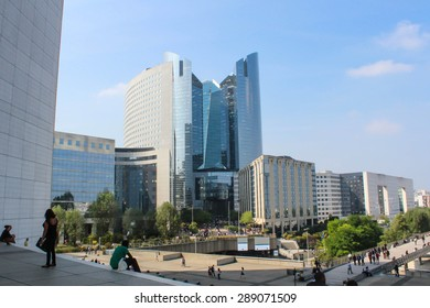 PARIS - SEPTEMBER 04: View of La Defense on september 04, 2012 in Paris. La Defense is a major business district of Paris.