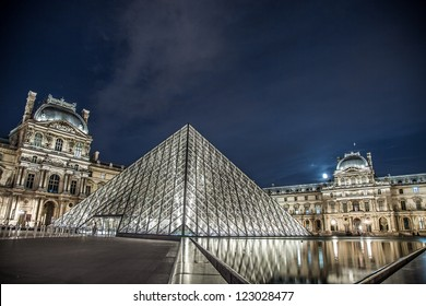 PARIS - SEPTEMBER 2: The Louvre on September 2, 2012 in Paris. The Louvre is one of the world's largest museums, a historic monument, and is a central landmark of Paris, France.