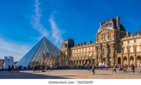 PARIS, SEPTEMBER 2017: Palais du Louvre in Paris, France