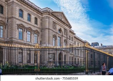 PARIS, SEPTEMBER 2017: Palais du Louvre in Paris, France.