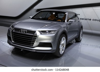 PARIS - SEPTEMBER 30: The new Audi Crosslane Concept displayed at the 2012 Paris Motor Show on September 30, 2012 in Paris