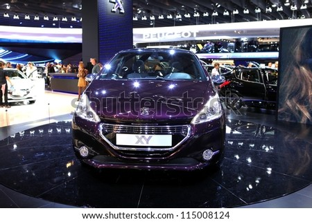 Paris September 30 Peugeot 208 Xy Stock Photo Edit Now 115008124