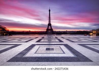 Paris Sky on Fire