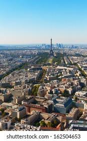 Paris skyline in nice summer day.