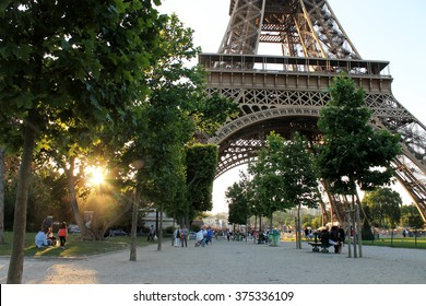 Paris. Paris in summer. Paris Eiffel tower. Eiffel tower.