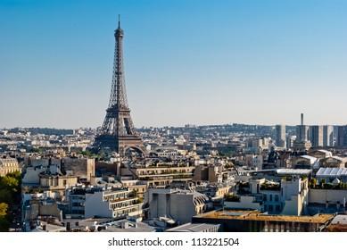 Paris, Tour Eiffel view from Triumphal Arch