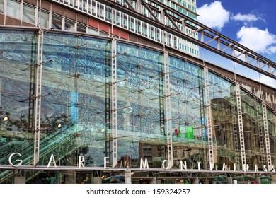 Paris train Rail Station -Gare Montparnasse. France.