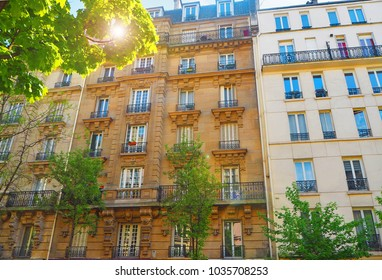 Paris. Typical architectural details of houses of the XIX century