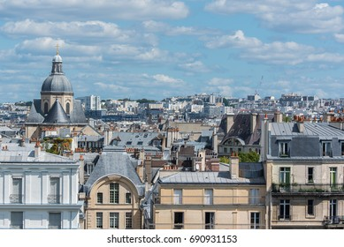 Paris, view of ile Saint-Louis, panorama of the roofs