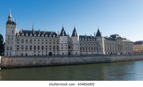 Paris, view of the Seine with the Conciergerie